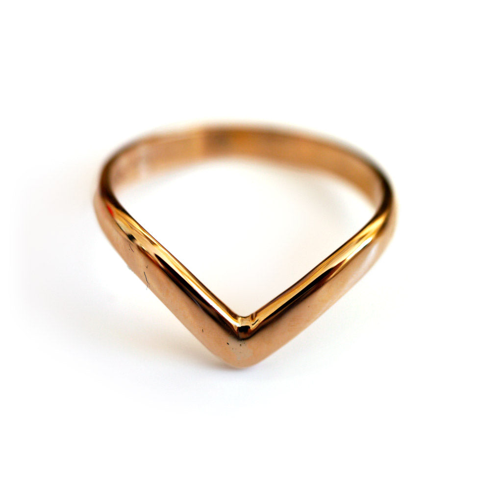 1960s Gold Glorious Gold Wishbone Ring