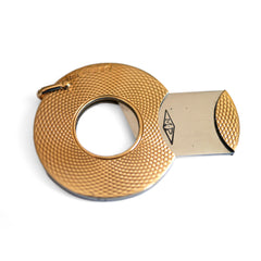 1964 Vintage Gold & Steel Cigar Cutter Pendant
