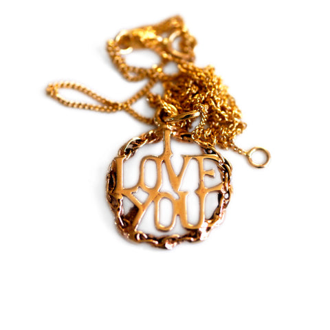 Gold Glorious Gold: 1966 I LOVE YOU Necklace
