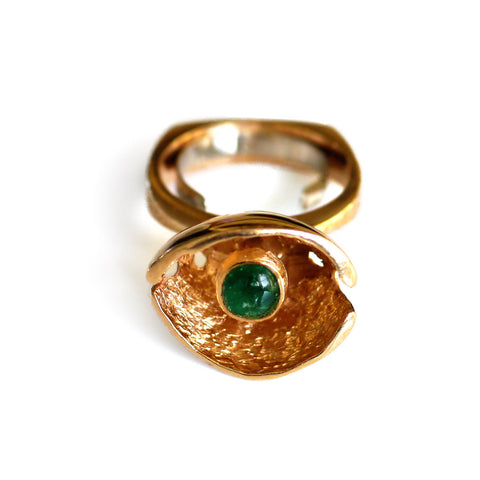 Extraordinary Emerald 1970s Cocktail Ring