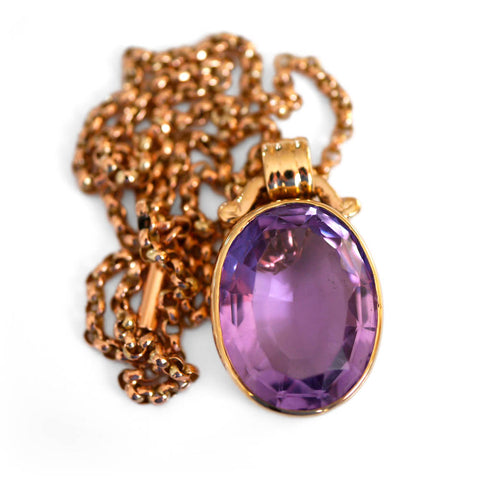 Alluring Amethyst Cocktail Necklace