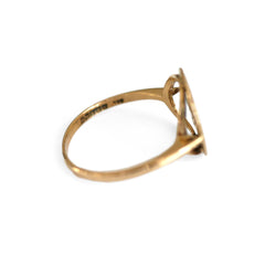 Gold Glorious Gold: Libra Dress Ring 1970s