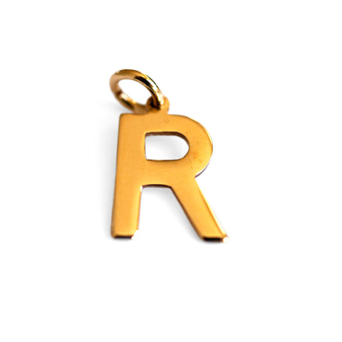 Gold Glorious Gold: 1977 Initial R Pendant