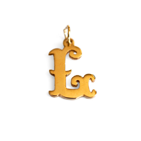 Gold Glorious Gold: Initial L Pendant