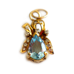 Astounding Aquamarine & Diamond Pendant