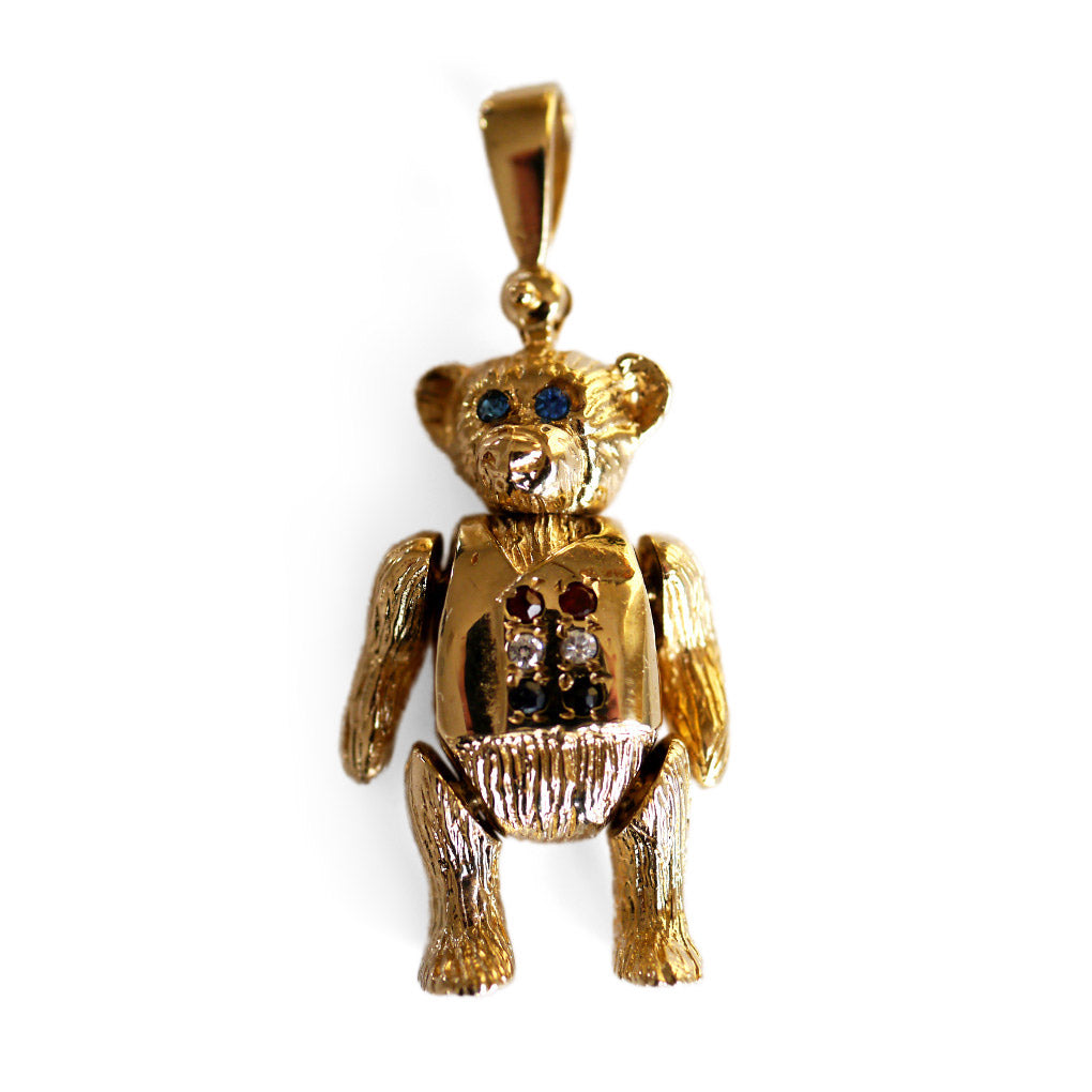 Vintage Jewellery Artfully Articulated 1990s Bear Pendant