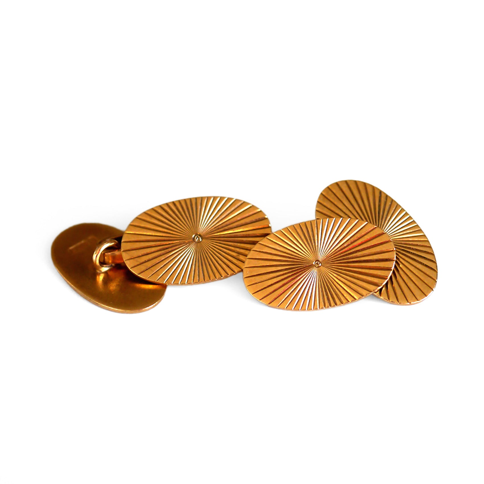 Vintage Gold Oval Cufflinks