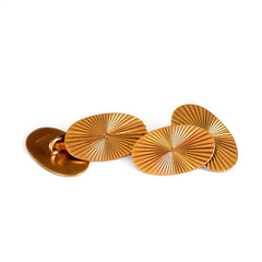 Vintage Oval Gold Cufflinks