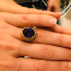 Amethyst Cocktail Ring 1960s