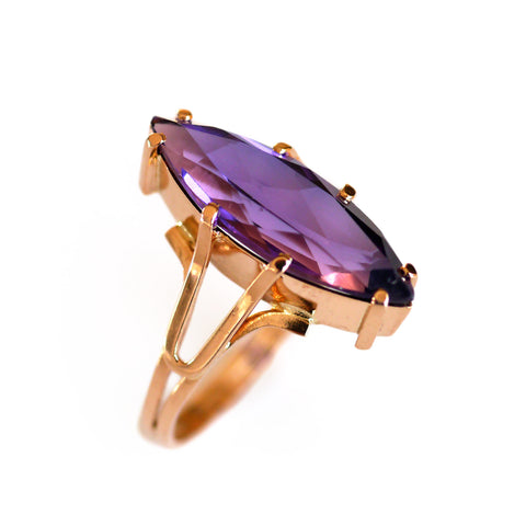 Amethyst Marquise Ring 1960s
