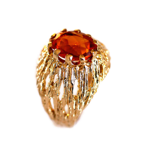 Citrine 1970s Cocktail Ring