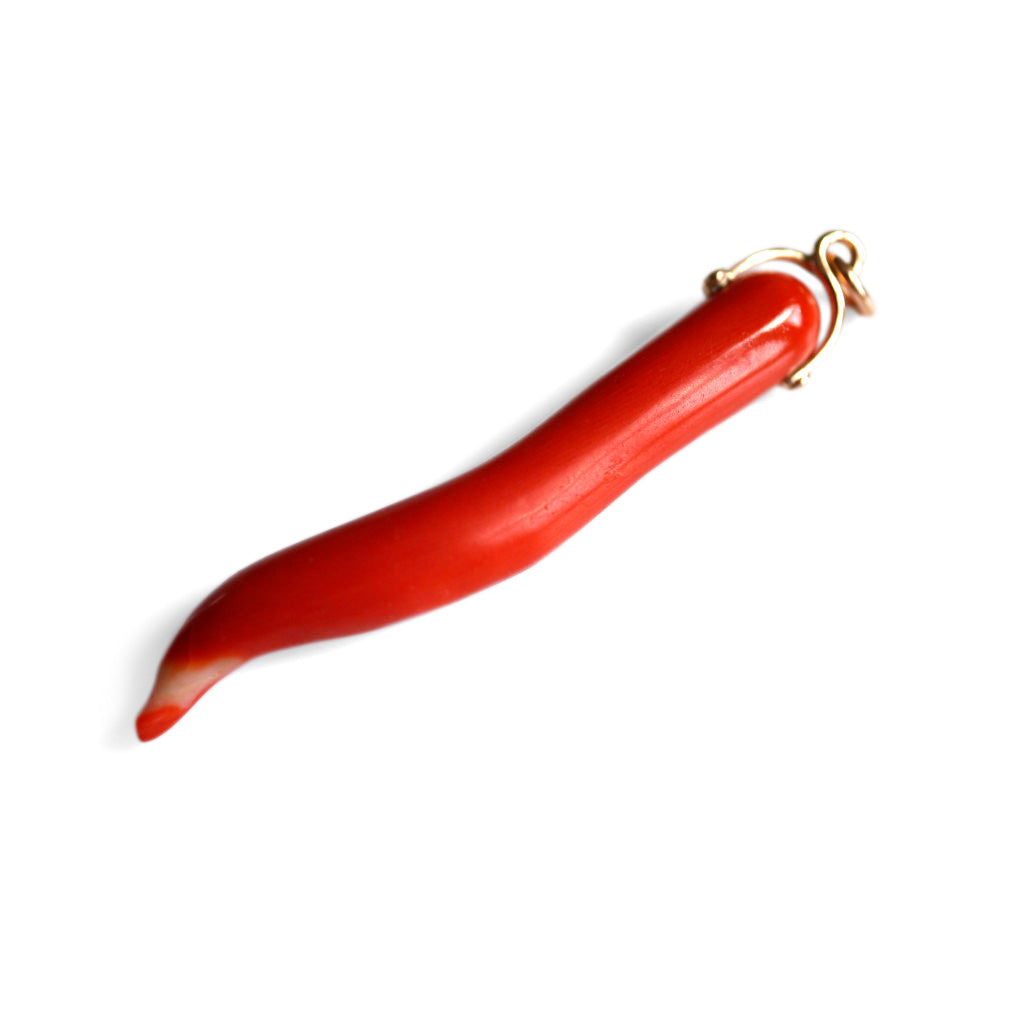 Chilli Pepper Coral Pendant 1970s