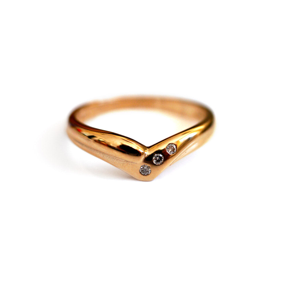 Vintage Diamond Wishbone Ring