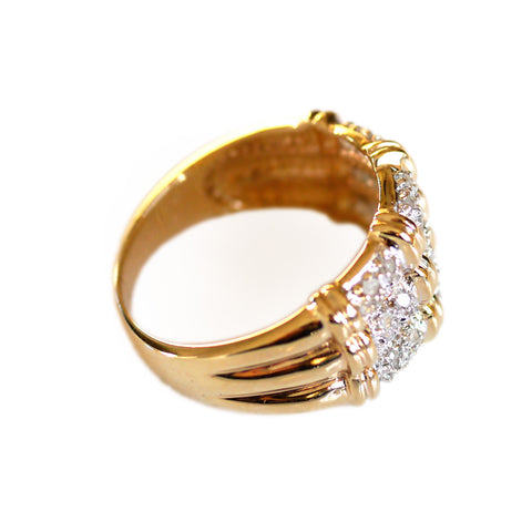 Dazzling Diamond Bamboo Ring