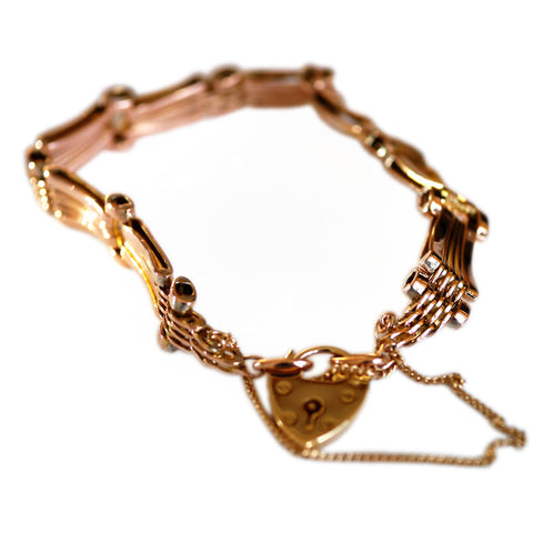 Gold Glorious Gold: 1970s Gate Bracelet
