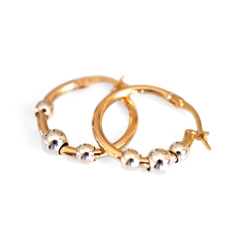 Gold Balls & Hoops Vintage Earrings