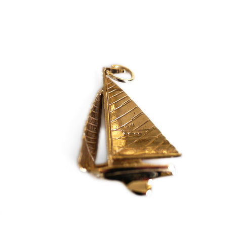 Gold Glorious Gold: 1977 Sailing Boat Pendant / Charm