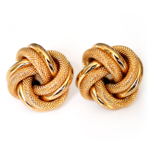 Gold Glorious Gold: Properly Oversized Knot Earrings