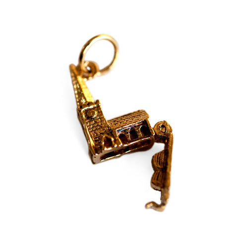 Vintage Gold Church Pendant Vintage Gold Church Charm