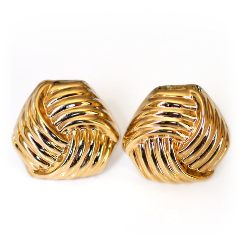 Gold Glorious Gold: Knot Earrings