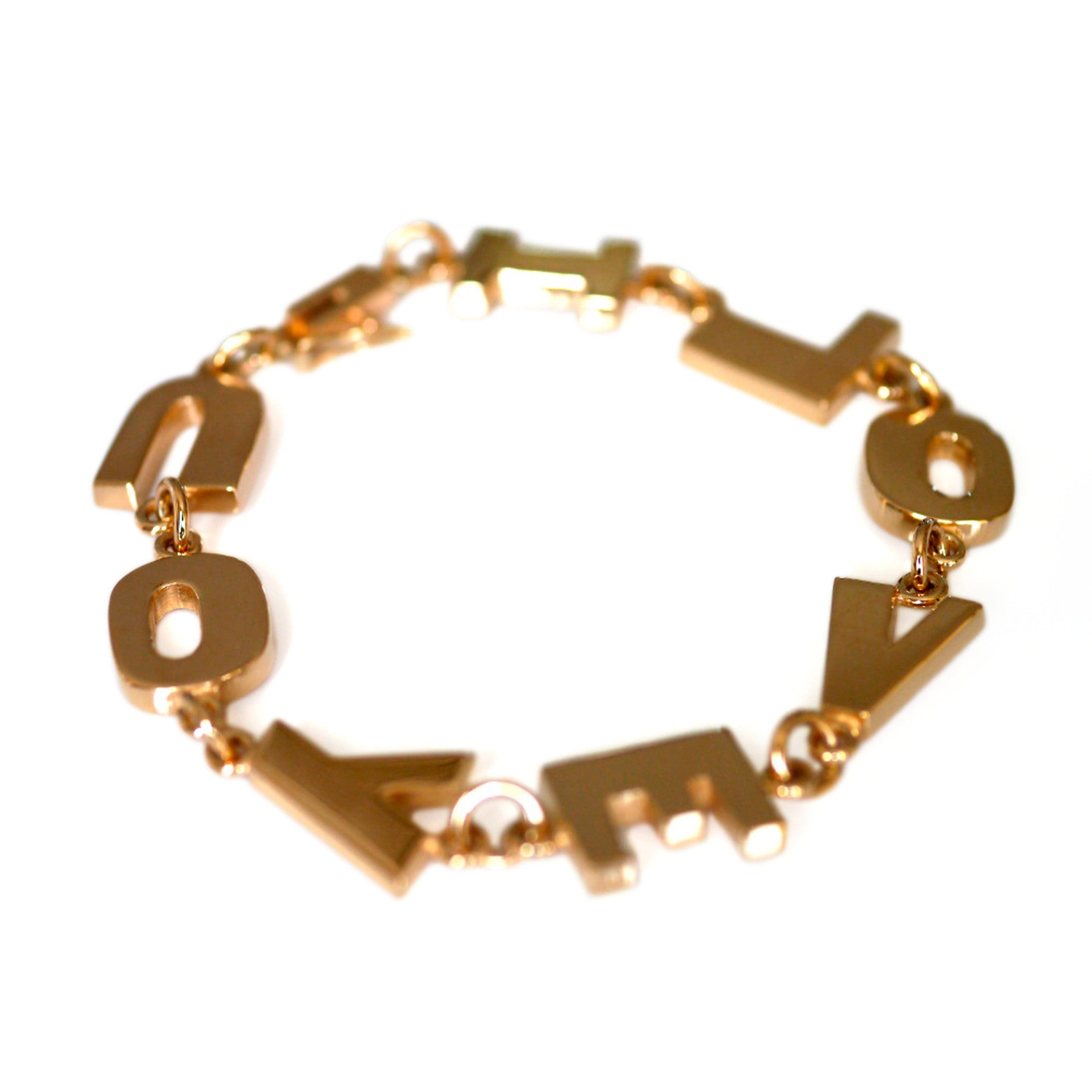 Gold Glorious Gold: I LOVE YOU Bracelet