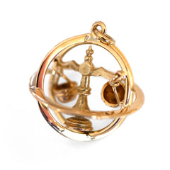 Articulated Jewellery Vintage Pendant Lady Justice Libra