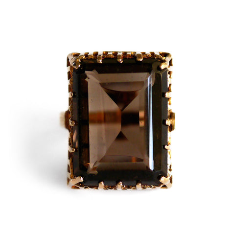 Smoky Quartz Oversized Cocktail Ring