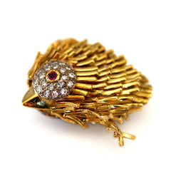 Dazzling Diamond & Ruby Eyed Chick Pendant