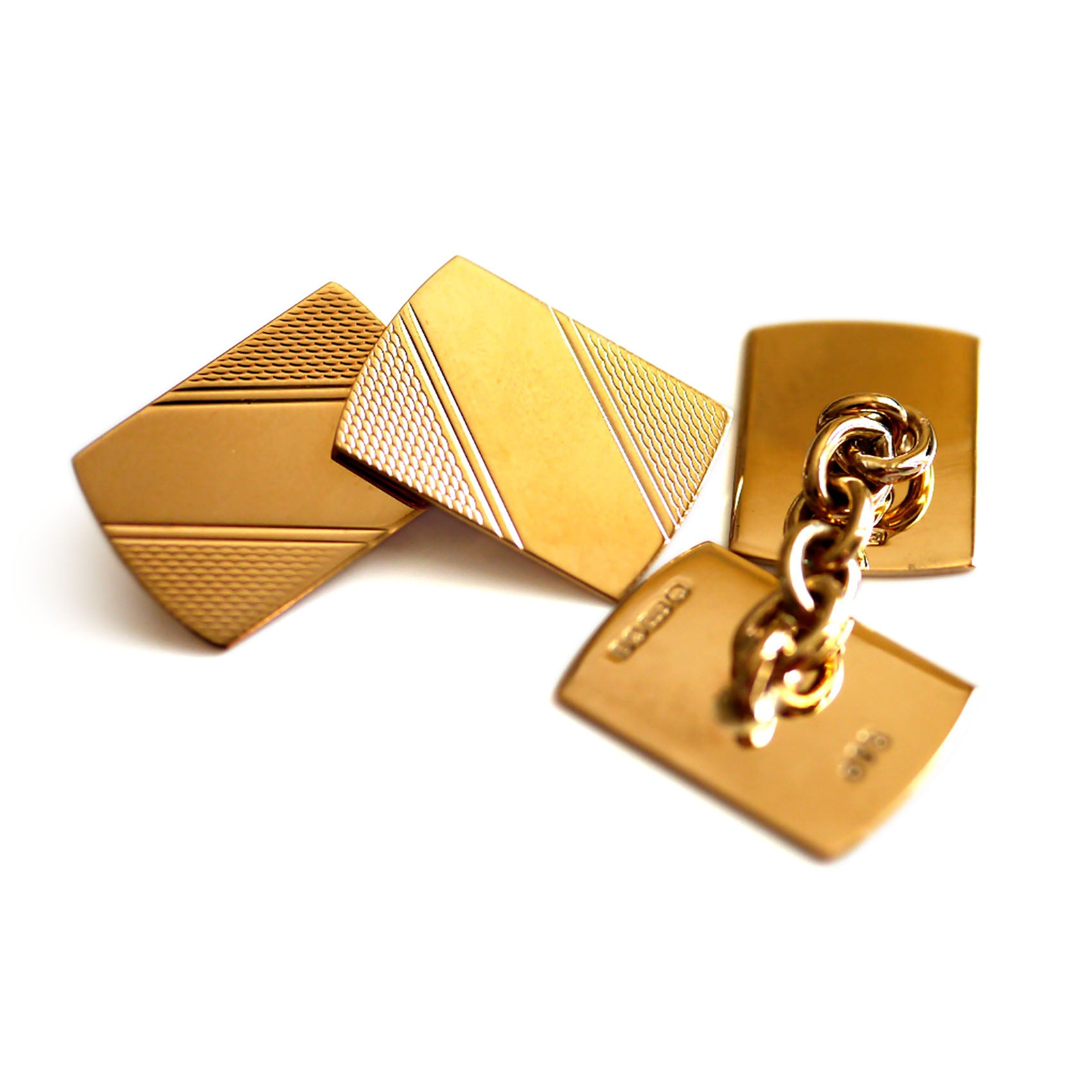 Gold Glorious Gold: Rectangular Cufflinks