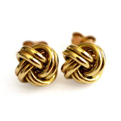 Gold Glorious Gold: Small Knot Earrings