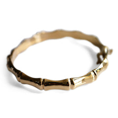 Gold Glorious Gold: Bamboo Bangle