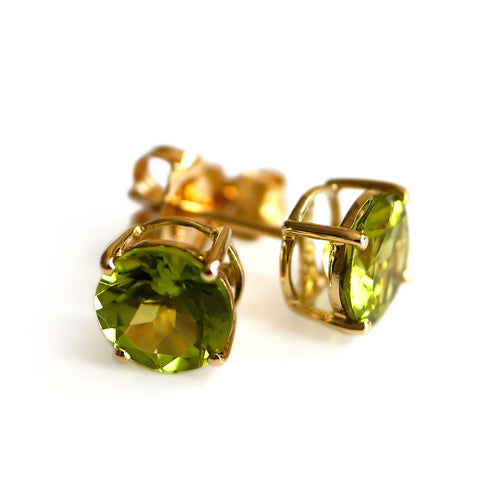 Evening Emeralds: Peridot Studs