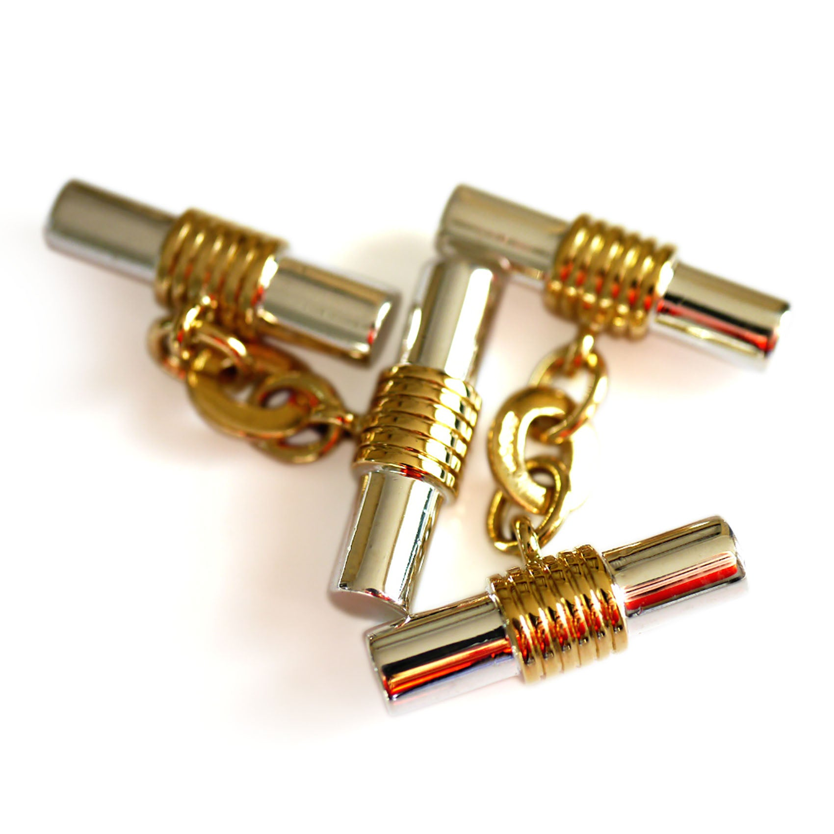 Silver Linings: Double Barrel Cufflinks