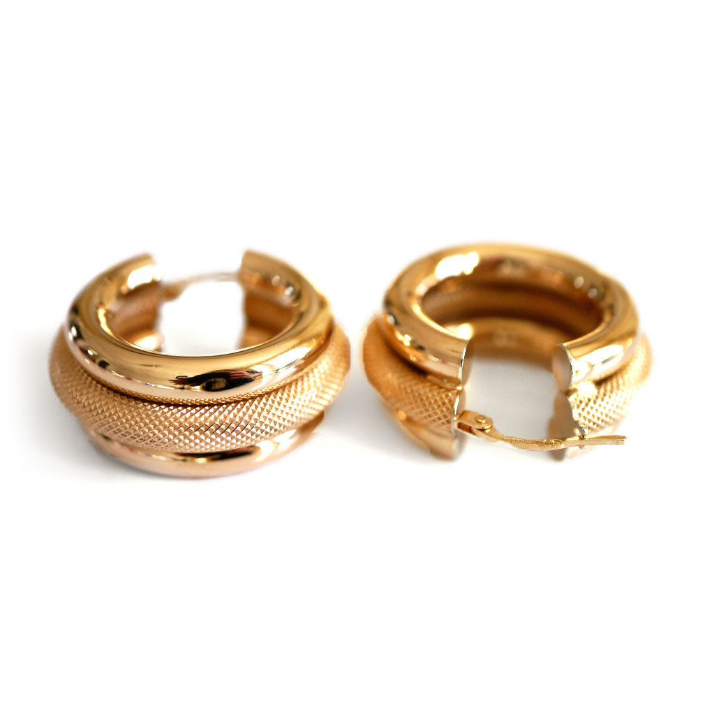 Gold Glorious Gold: Oversized Textured Gold Hoop Earrings