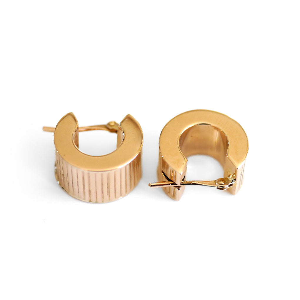 Gold Glorious Gold: Small Thick Gold Hoop Earrings
