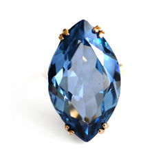 Blue Topaz 1960s Cocktail Ring