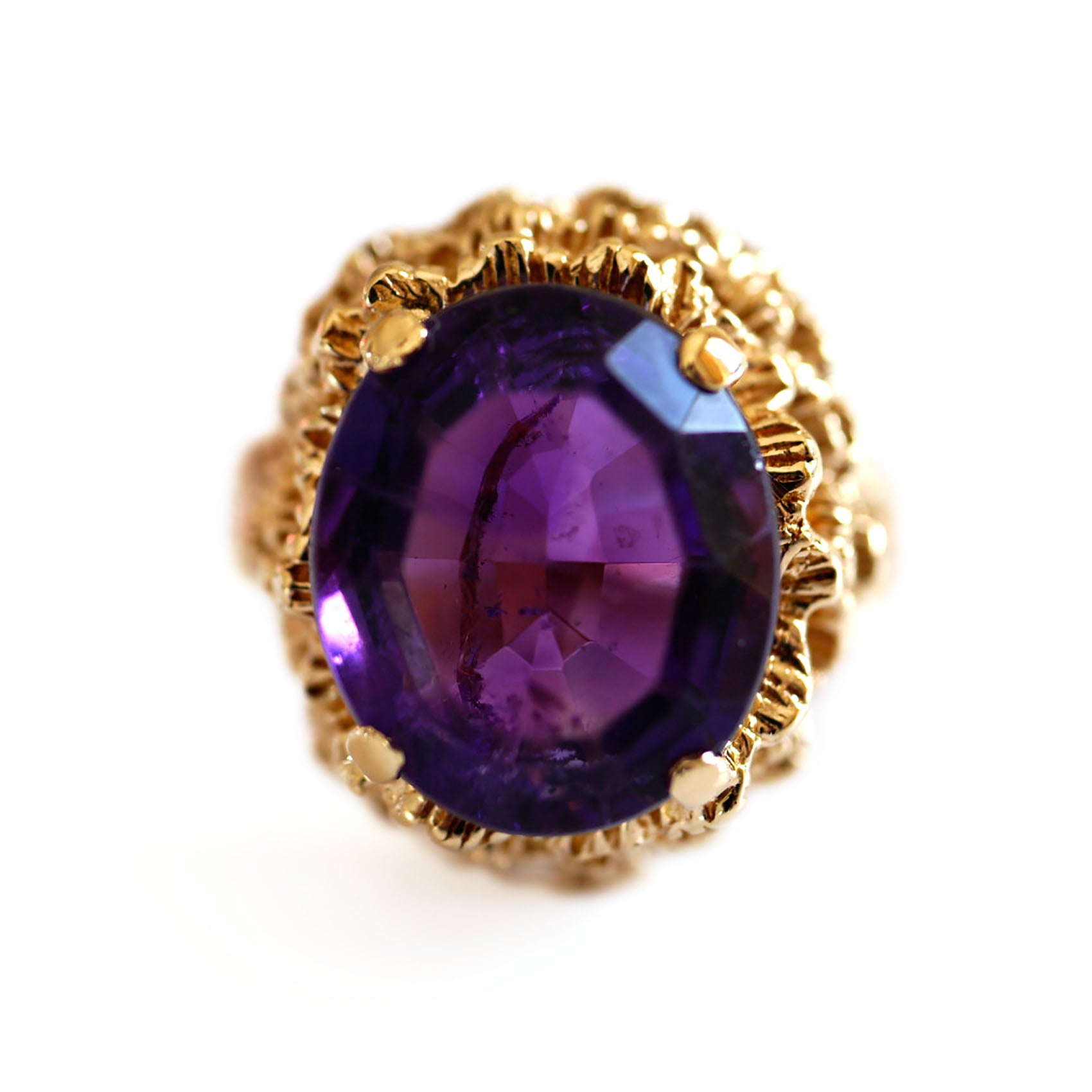 Amethyst Vintage Cocktail Ring 1960s