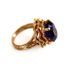 1960s Amethyst Cocktail Ring