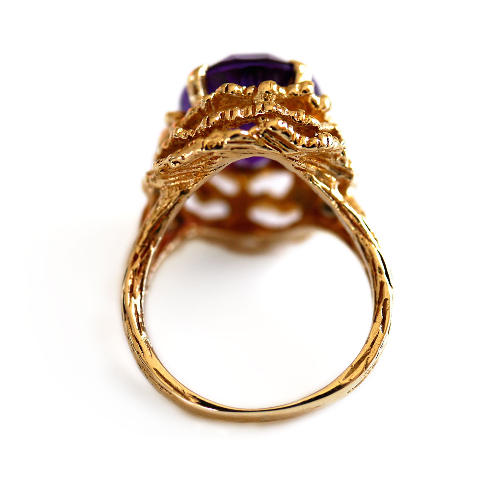 1960s Vintage Amethyst Cocktail Ring