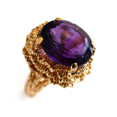 Vintage Amethyst Cocktail Ring 1960s