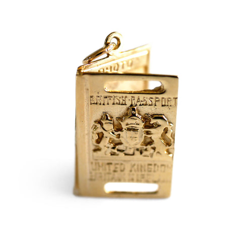 Gold Glorious Gold: 1960s British Passport Pendant