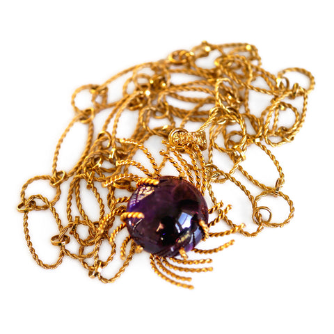 1960s Alluring Amethyst Necklace
