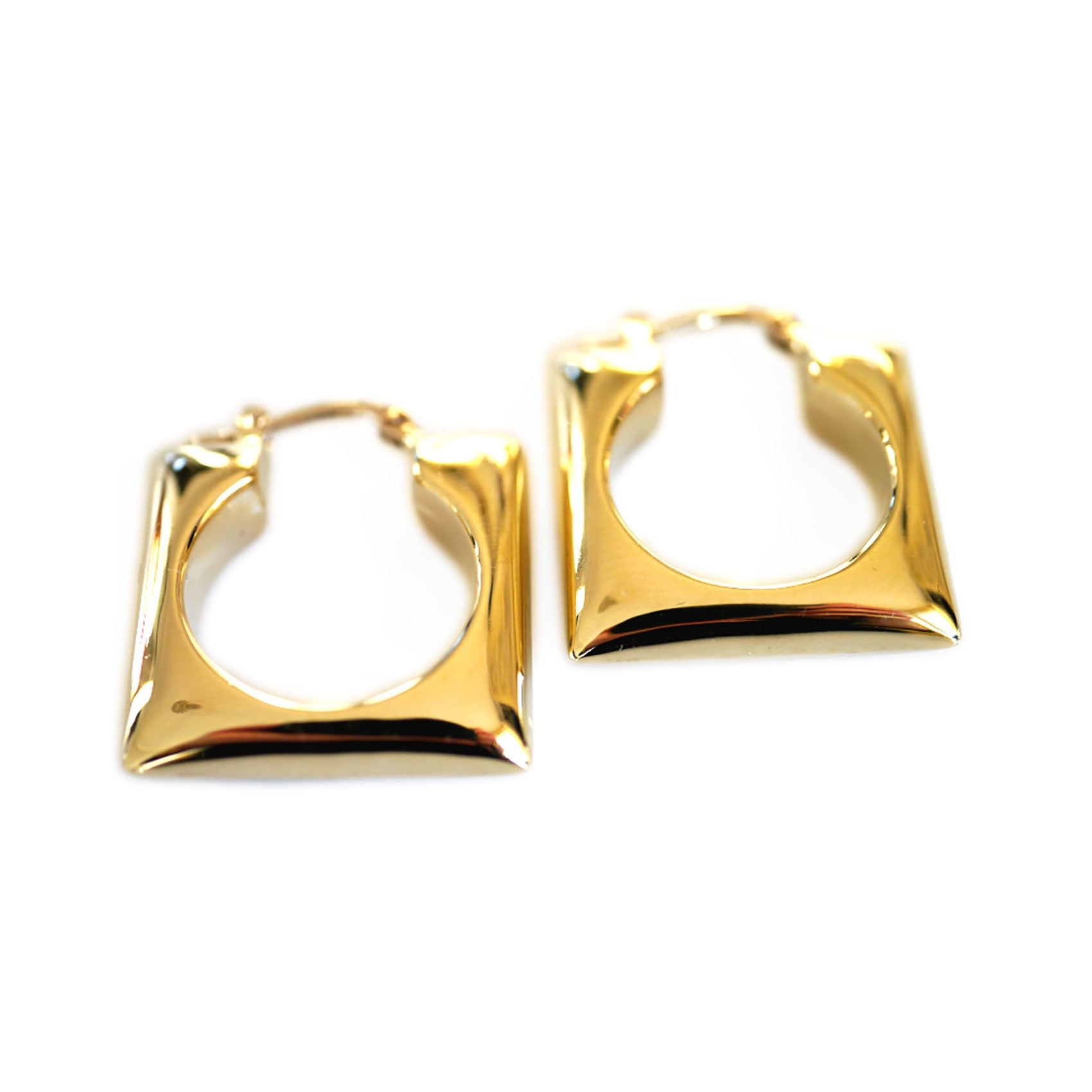 Gold Glorious Gold: Squaring the Circle Earrings