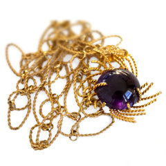 1960s Vintage Amethyst Necklace