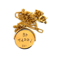 Gold Glorious Gold: Be Happy Icon Necklace
