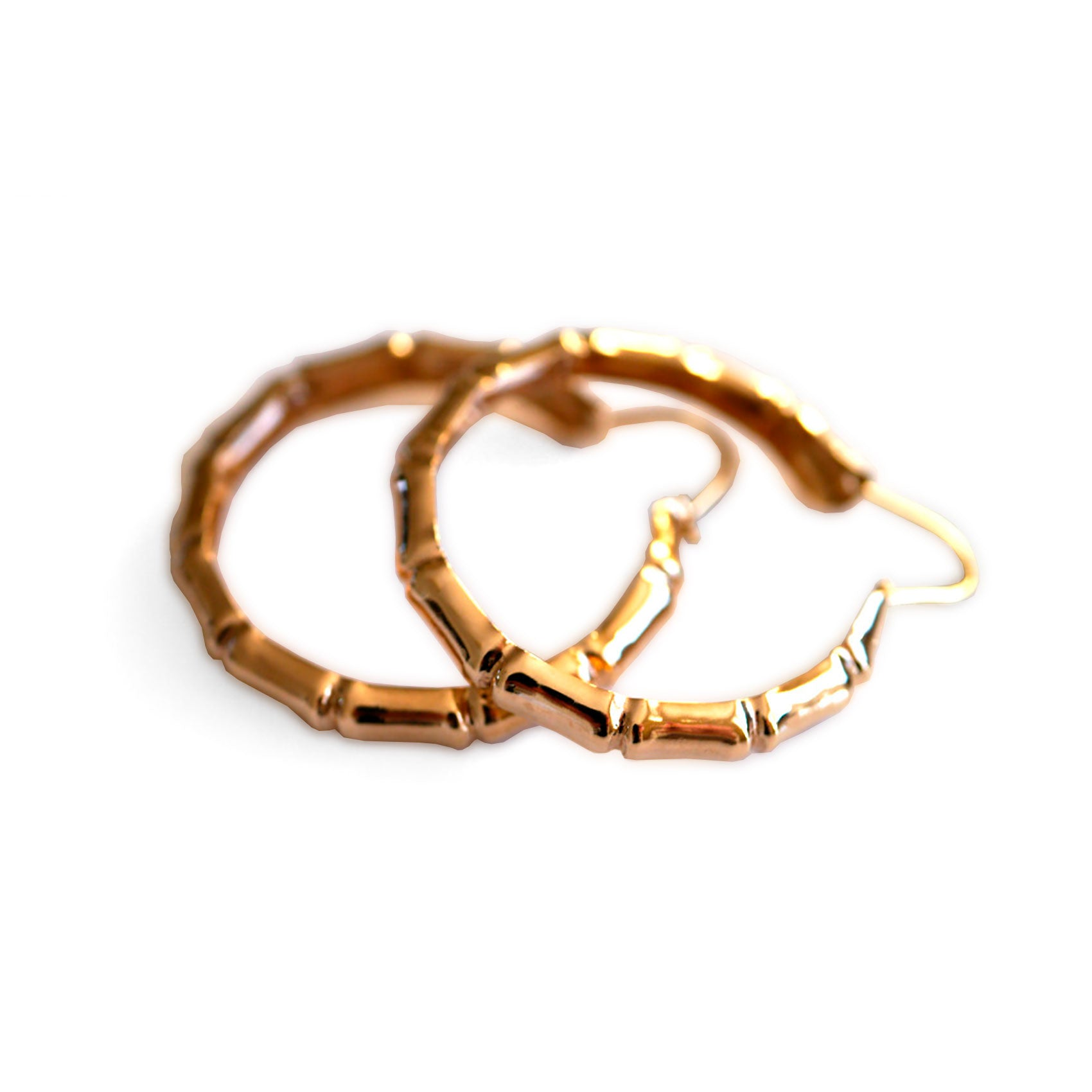 Gold Glorious Gold: Large 1977 Bamboo Hoops