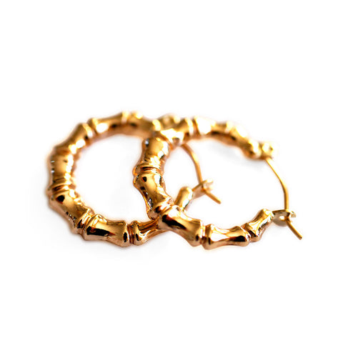 Gold Glorious Gold: Small Bamboo Hoops
