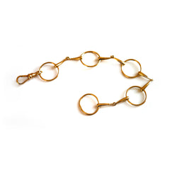 Gold Glorious Gold: Snaffle Bracelet