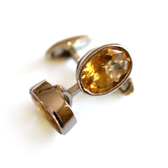 Silver Linings: Golden Topaz Cufflinks