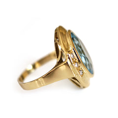 Rockstar Blue Topaz & Diamond Ring